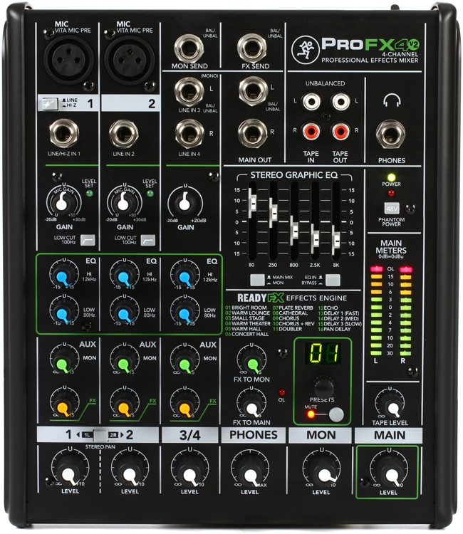 Mackie ProFX4v2 Mixer with Effects image 1