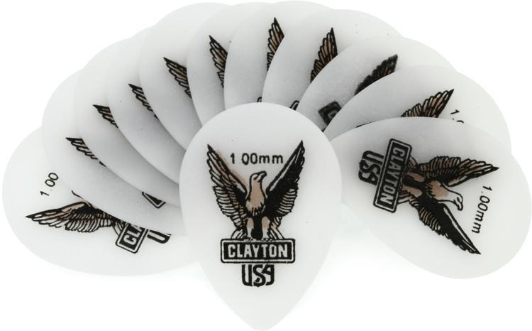 Clayton Acetal Small Teardrop Picks 12-pack 1.00mm image 1