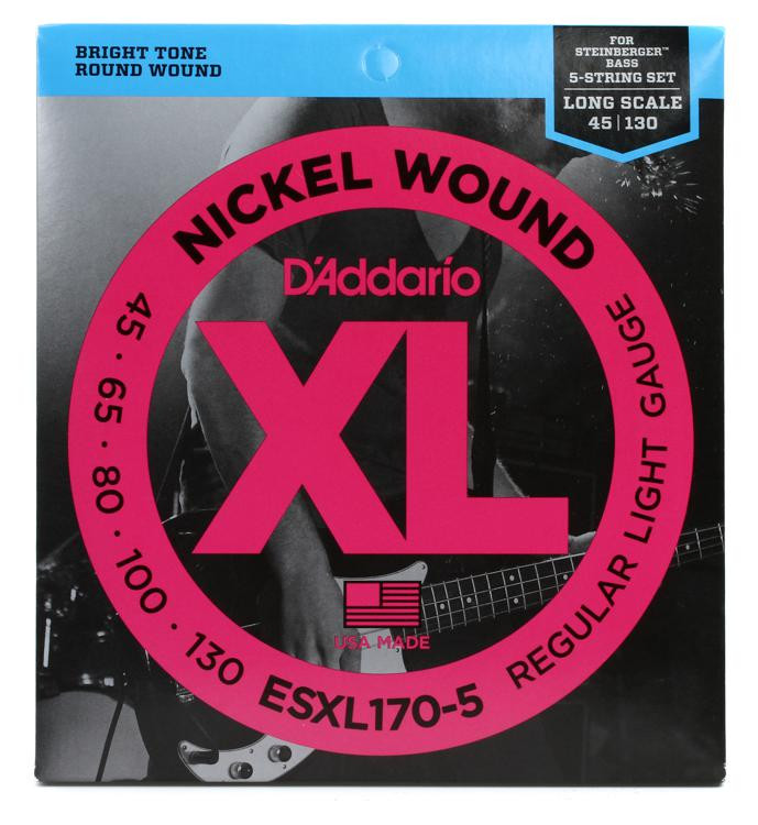 d 39 addario esxl170 5 double ball end 5 string bass strings sweetwater. Black Bedroom Furniture Sets. Home Design Ideas