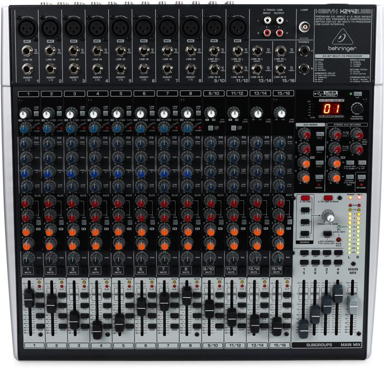 Behringer Xenyx X2442USB Mixer and USB Audio Interface with Effects image 1