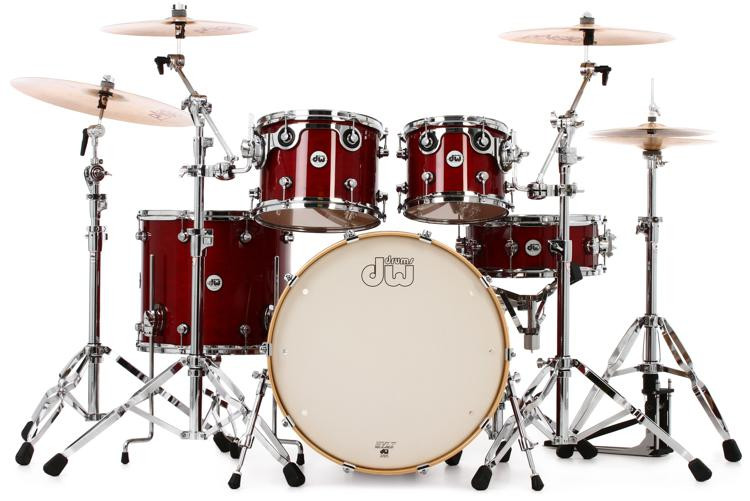 DW Design Series 5-piece Shell Pack - Cherry Stain image 1