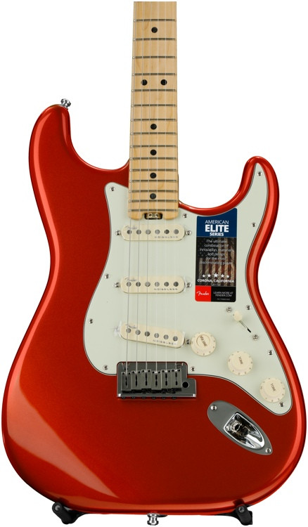 Fender American Elite Stratocaster - Autumn Blaze Metallic with Maple Fingerboard image 1