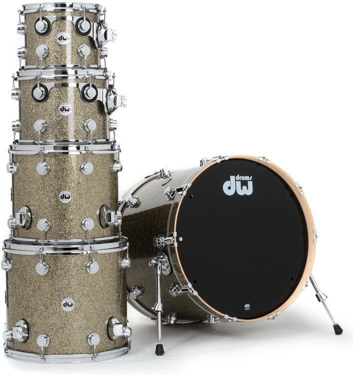 DW Collector\'s Series FinishPly Shell Pack - 5-pc - Gold Galaxy image 1