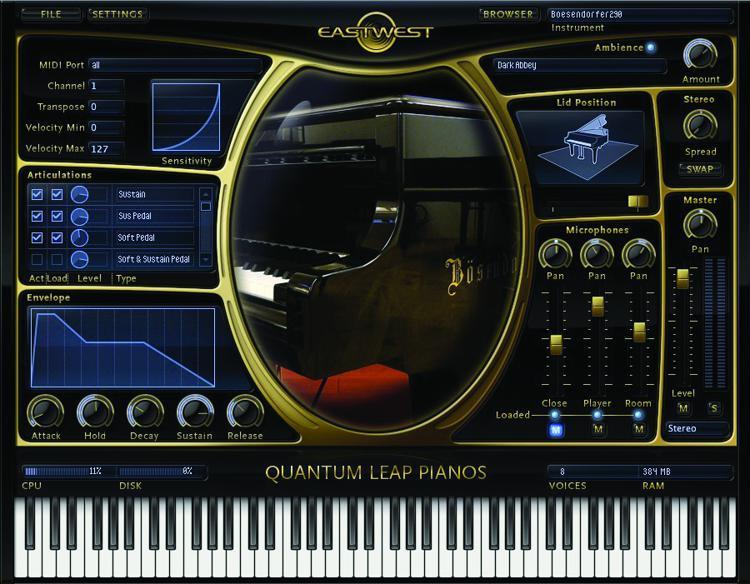 EastWest Quantum Leap Pianos - Gold Edition (download) image 1