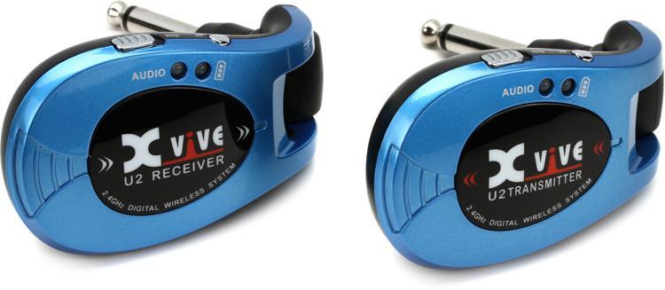 xvive audio u2 digital wireless guitar system blue sweetwater. Black Bedroom Furniture Sets. Home Design Ideas