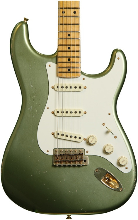 Fender Custom Shop Master Design 1950s Relic Stratocaster - Moss Green with Maple Fingerboard image 1