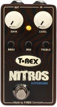 T-Rex Nitros Hypergain Distortion Pedal with Active 3-band EQ