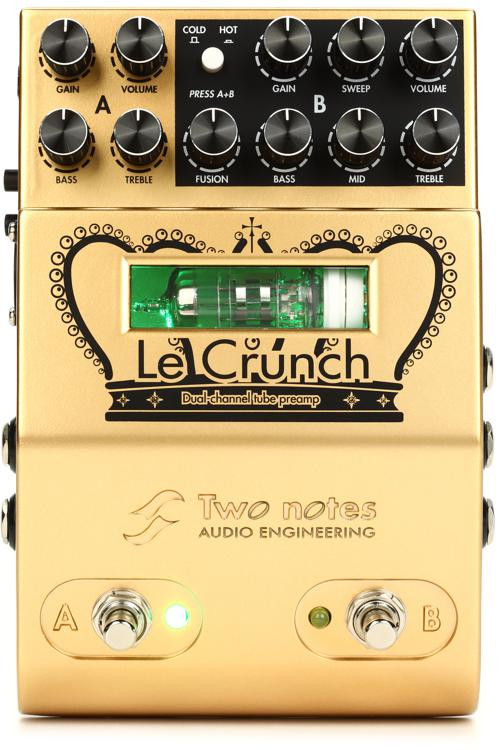 Two Notes Le Crunch 2-channel British Tones Tube Preamp Pedal image 1