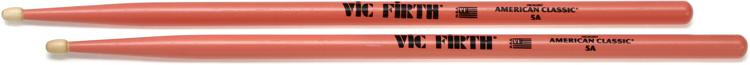 Vic Firth American Classic Drum Sticks - 5A - Wood Tip - Pink Finish image 1