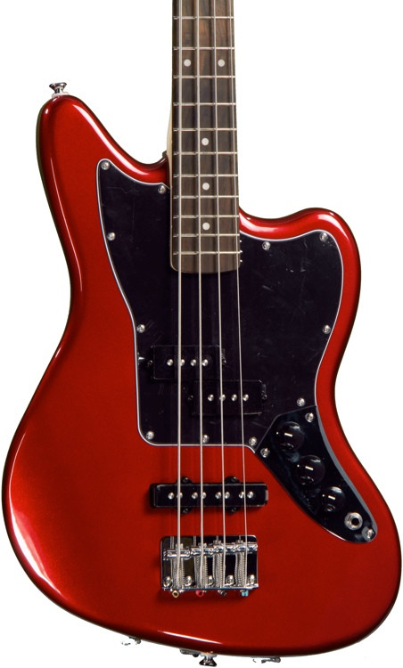 Squier Vintage Modified Jaguar Bass Special SS - Candy Apple Red image 1