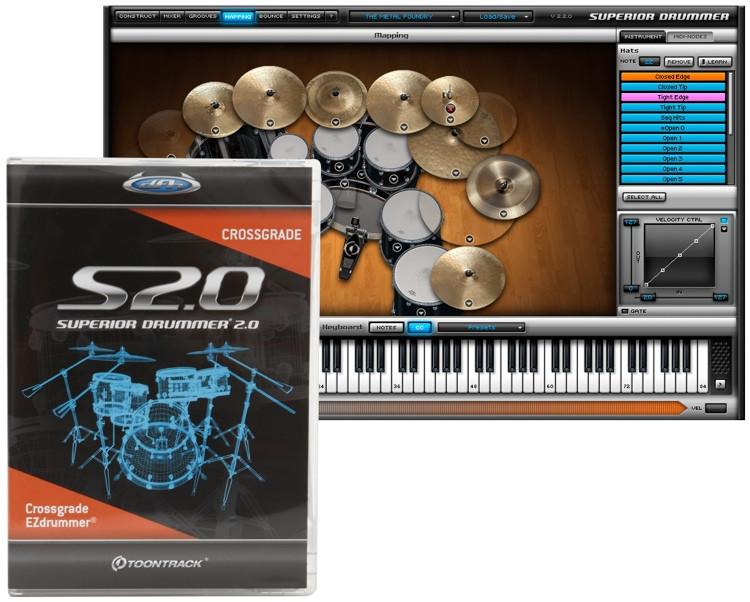 Toontrack Superior Drummer 2.0 - Crossgrade from EZdrummer image 1