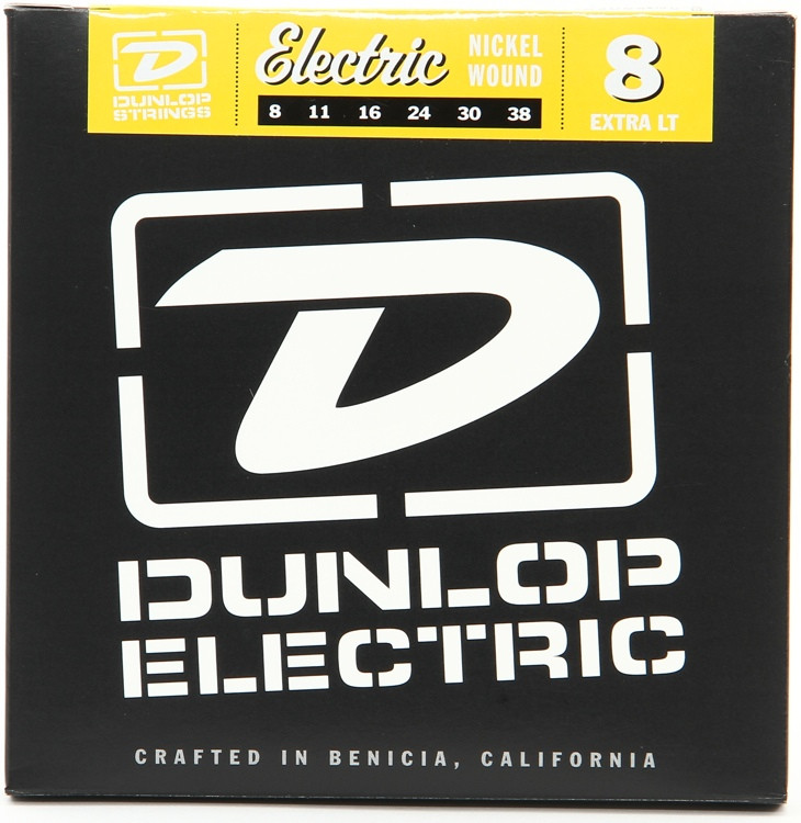 Dunlop DEN0838 Nickel Plated Steel Extra Light Electric Strings image 1