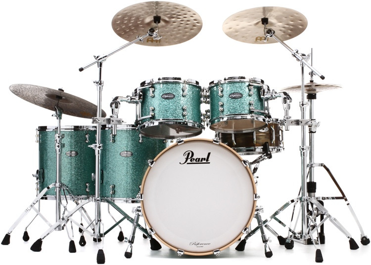 Pearl Music City Custom Reference Pure Shell Pack - 5-piece, Turquoise Glass image 1