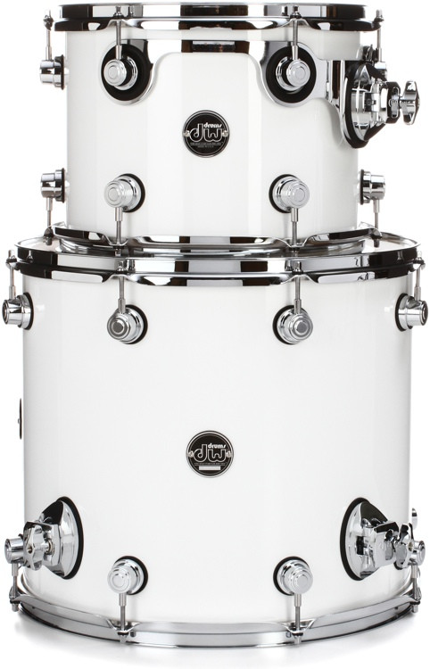 DW Performance Series 2-Piece Tom Pack - Gloss White Finish Ply image 1