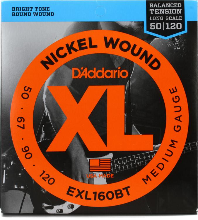 D\'Addario EXL160BT Balanced Tension Nickel Wound Medium Bass Strings image 1
