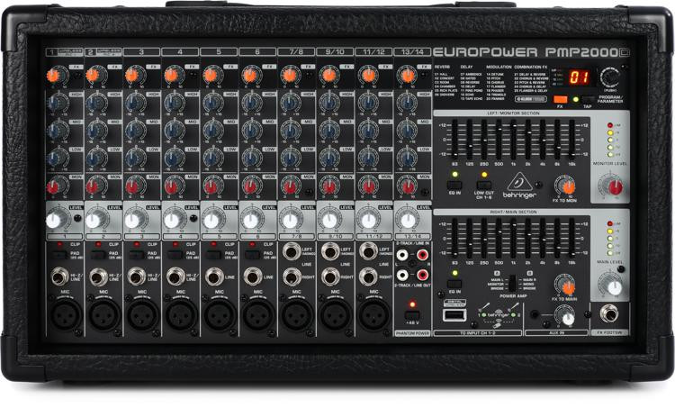 Behringer PMP2000D 14-channel 2000W Powered Mixer image 1