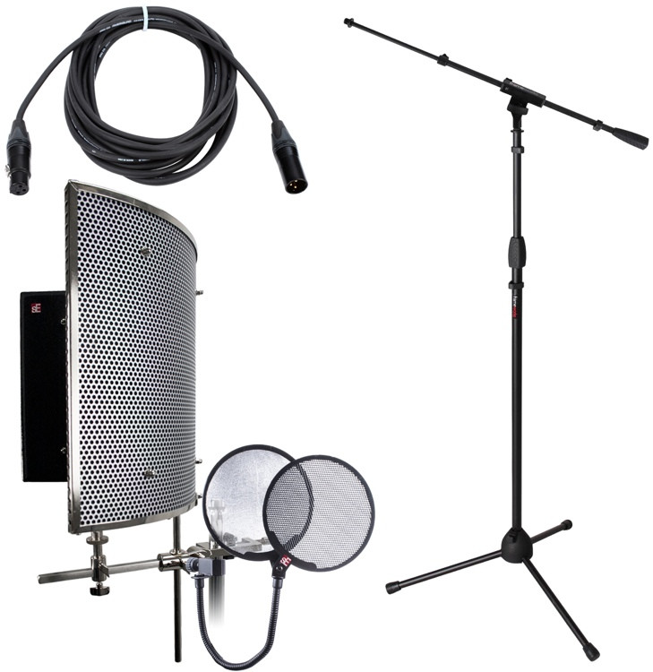 sE Electronics Reflexion Pro Studio Package - w/Stand, Cable, and Pop Filter image 1