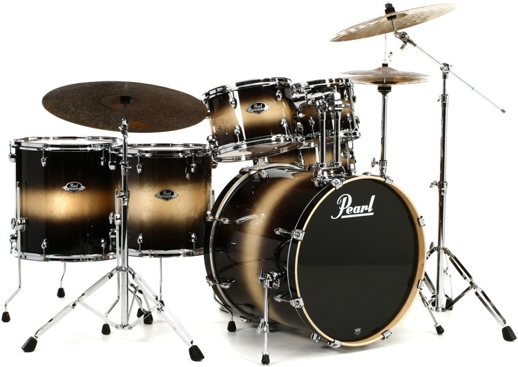 Pearl Export EXL 6-piece Rock Shell Pack with Snare Drum - Nightshade image 1