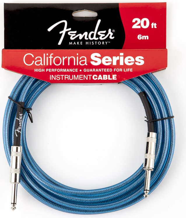 Fender California Cable - 20\', Lake Placid Blue image 1