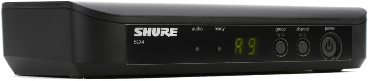Shure BLX4 Single Channel Receiver - H10 Band image 1
