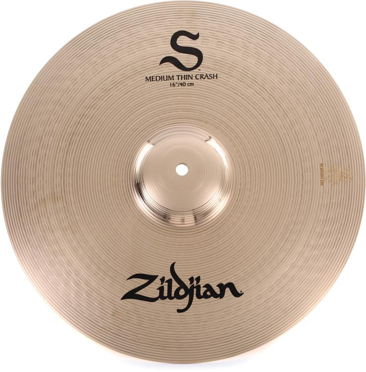 zildjian s series medium thin crash cymbal 16 sweetwater. Black Bedroom Furniture Sets. Home Design Ideas