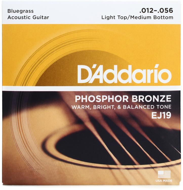 D\'Addario EJ19 Phosphor Bronze Bluegrass Light Top/Medium Bottom Acoustic Strings image 1