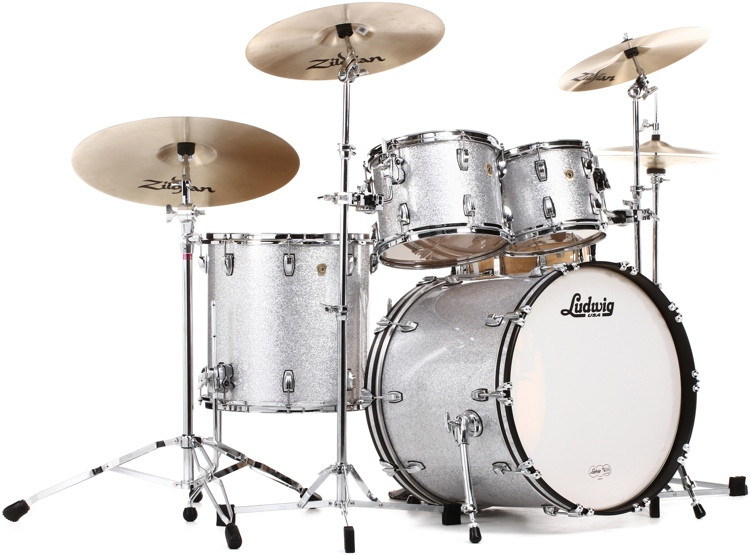 Ludwig Classic Maple Mod 22 Shell Pack - Silver Sparkle image 1
