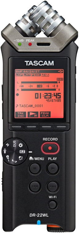 TASCAM DR-22WL Portable Recorder with Wi-Fi image 1