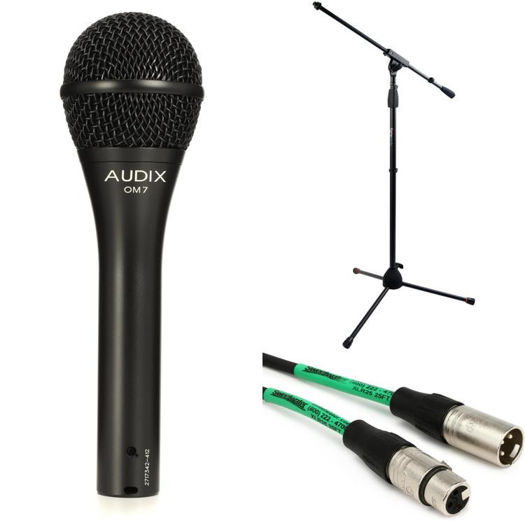 Audix OM7 Handheld Microphone with Stand and Cable image 1