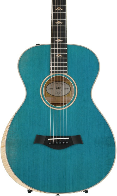 Taylor Grand Concert 12-fret Custom AA Quilt Maple - Koi Blue image 1