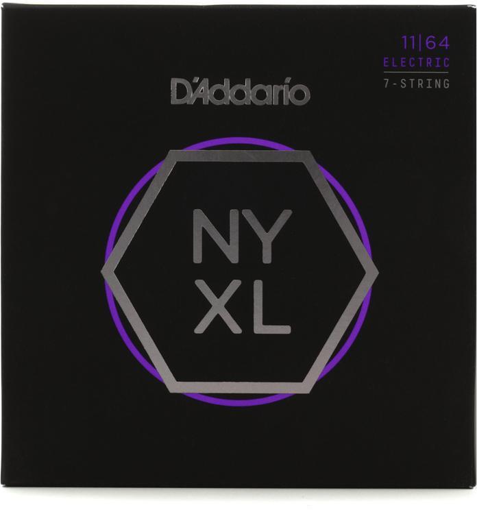 D\'Addario NYXL1164 Nickel Wound Electric Strings .011-.064 Medium 7-String image 1