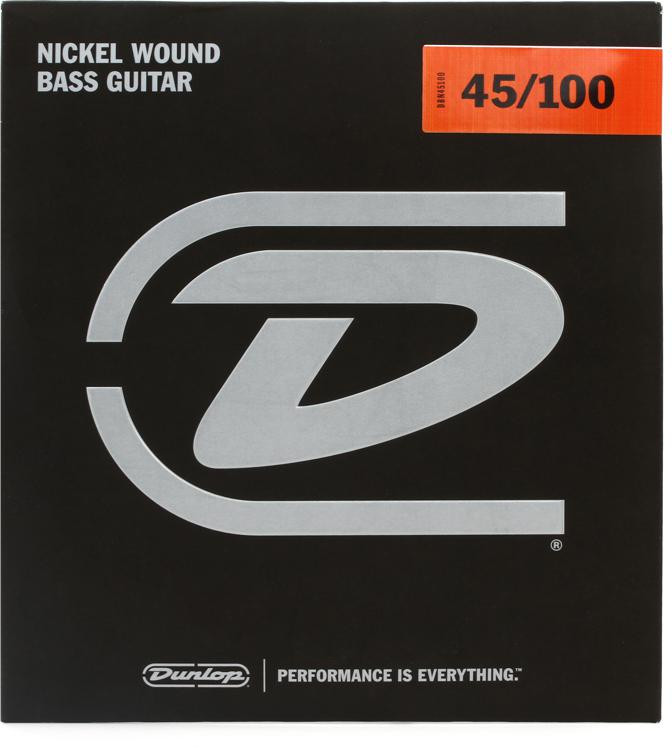 Dunlop DBN45100 Nickel Plated Steel Medium Light Bass Strings image 1