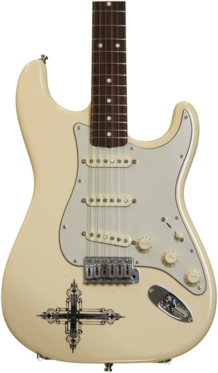 Fender Kenny Wayne Shepherd Stratocaster - Arctic White with Cross image 1