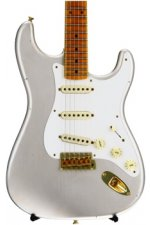 Fender Custom Shop 20th Anniversary Relic Stratocaster Limited Edition - Inca Silver with Maple Fingerboard