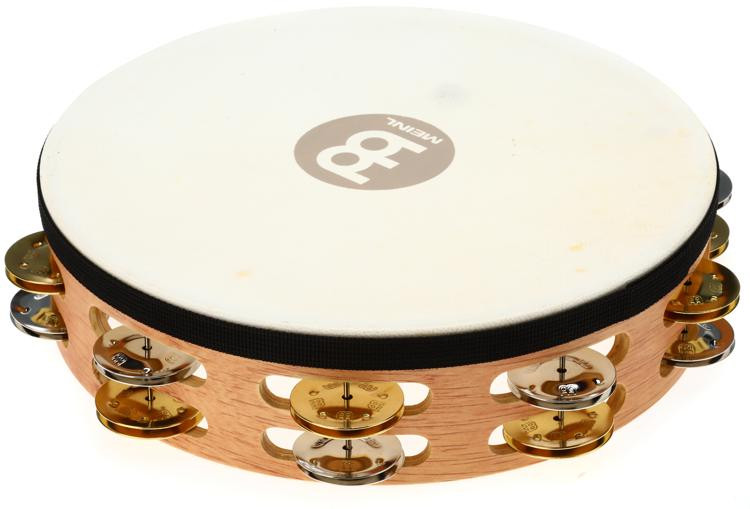 Meinl Percussion Recording-Combo Wood Tambourine - Double Row with Head image 1