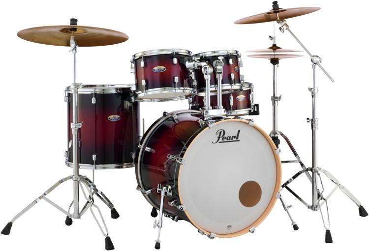 Pearl Decade Maple Shell Pack - 5pc - Redburst image 1