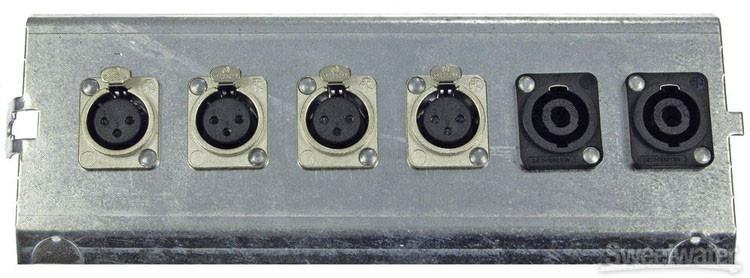 Pro Co FP6 Series Floor Plate - (4) XLR F + (2) NL4 SpeakOn image 1