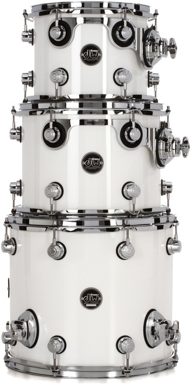 DW Performance Series 3-pc Tom Pack - Gloss White Finish Ply image 1