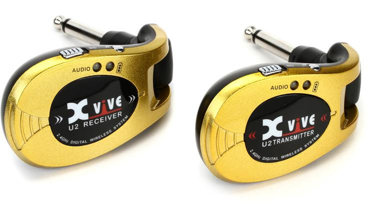 xvive audio u2 digital wireless guitar system gold sweetwater. Black Bedroom Furniture Sets. Home Design Ideas