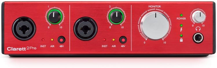 Focusrite Clarett 2Pre 10x4 Thunderbolt Audio Interface image 1