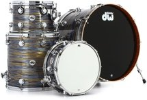 DW Collector's Series FinishPly Maple/Mahogany Shell Pack - 4-pc - Peacock Oyster