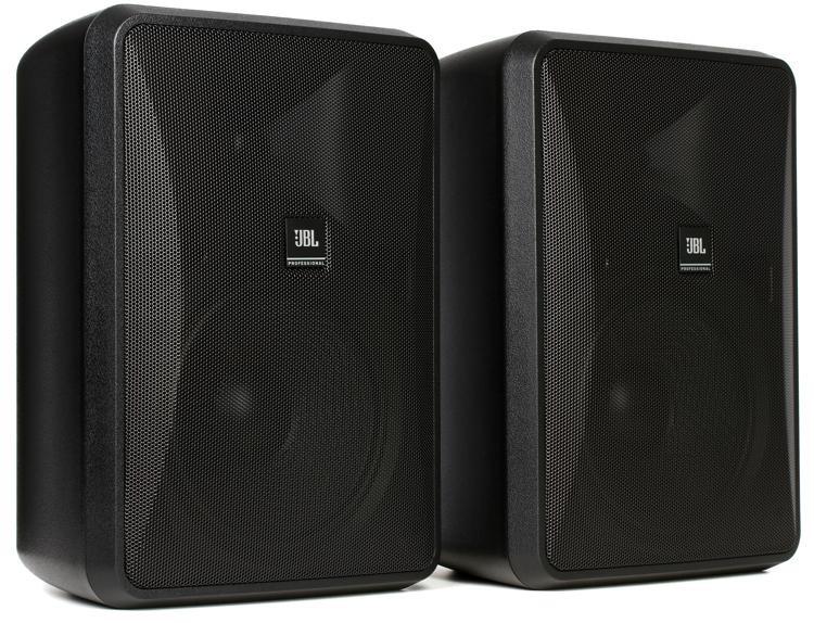 jbl control 28 1 240w 8 indoor outdoor speaker black. Black Bedroom Furniture Sets. Home Design Ideas