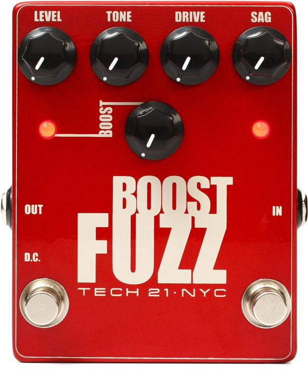 Tech 21 Boost Fuzz Metallic Fuzz Pedal image 1