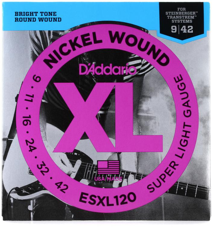 D\'Addario ESXL120 Nickel Wound Double Ball End Super Light Electric Strings image 1