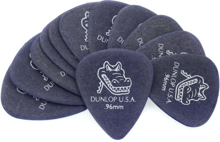 Dunlop 417P.96 Gator Grip .96mm Violet Guitar Picks 12-Pack image 1