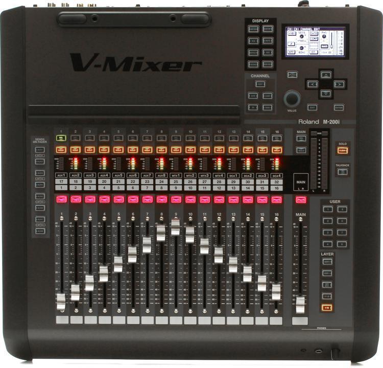 roland m 200i v mixer compact digital mixer sweetwater. Black Bedroom Furniture Sets. Home Design Ideas