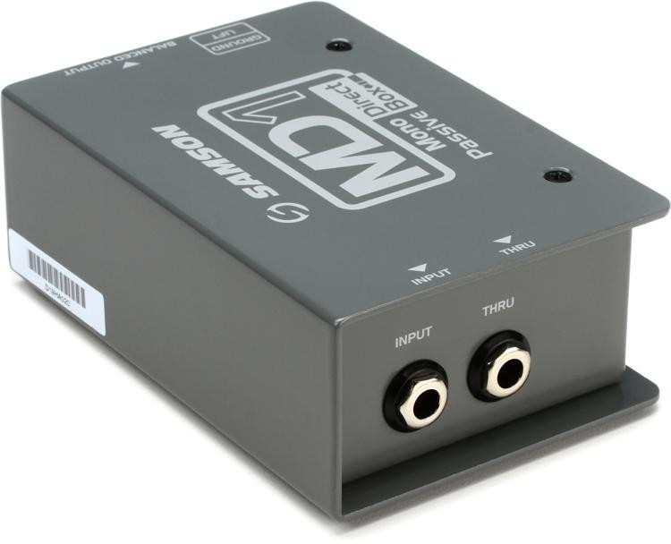 Samson MD1 1-channel Passive Instrument Direct Box image 1