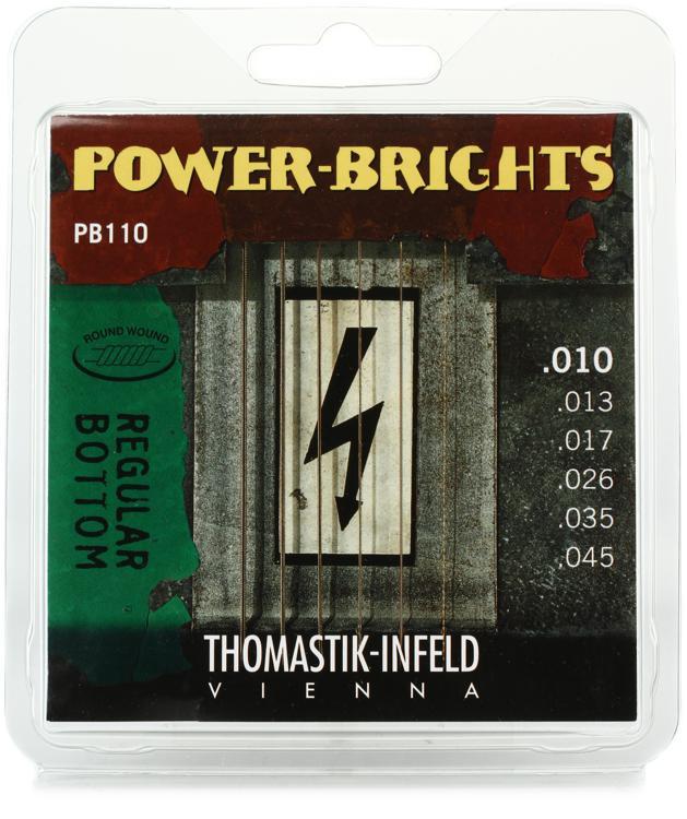 thomastik infeld power brights electric guitar strings medium light 010 045 sweetwater. Black Bedroom Furniture Sets. Home Design Ideas
