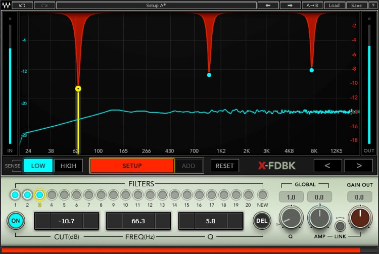 Waves X-FDBK Feedback Eliminator Plug-in image 1