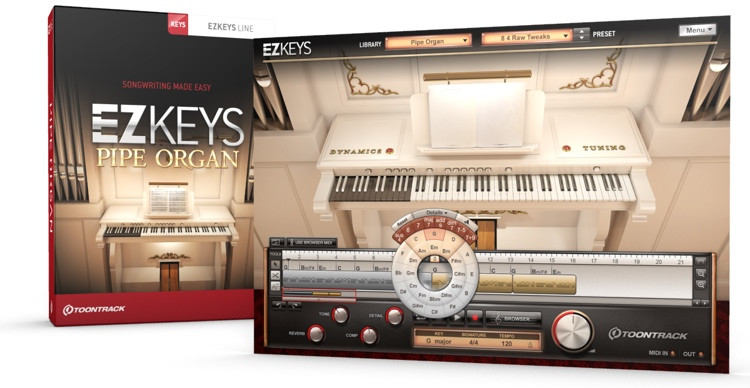 Toontrack EZkeys Pipe Organ Songwriting Software and Virtual Pipe Organ image 1